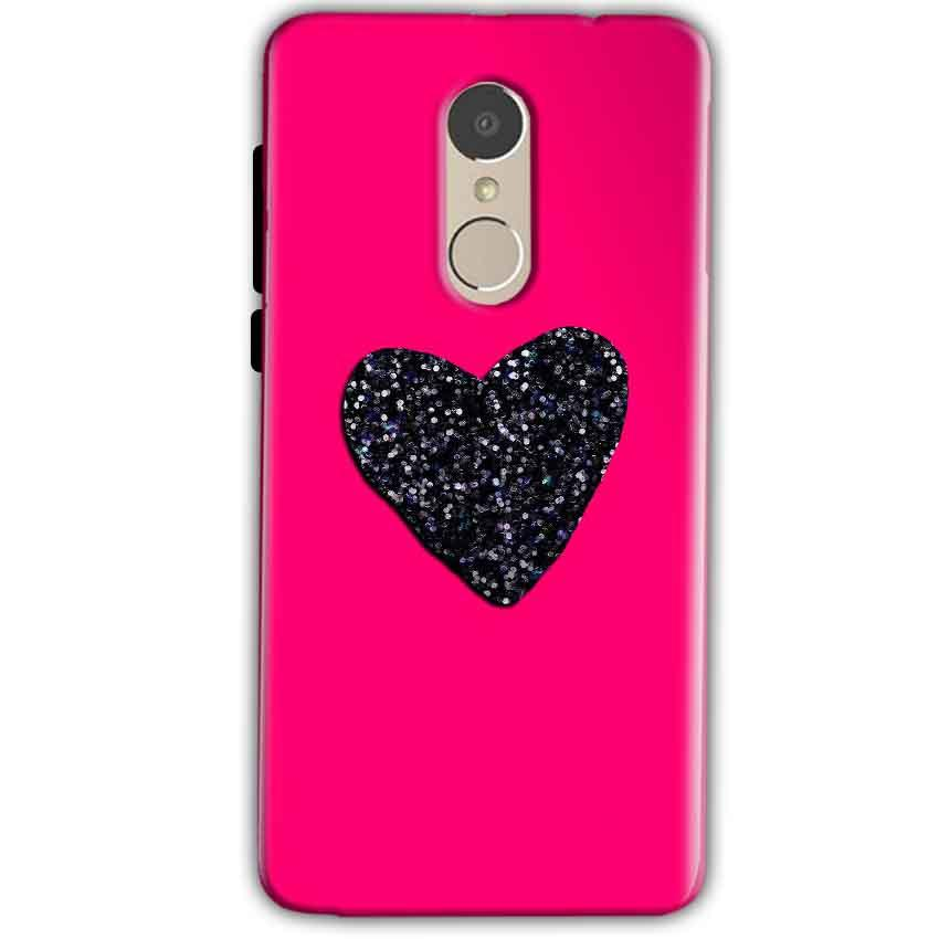 Xiaomi Redmi Note 4 Mobile Covers Cases Pink Glitter Heart - Lowest Price - Paybydaddy.com