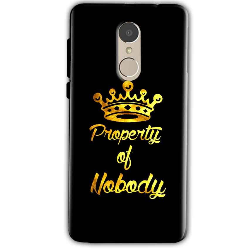 Xiaomi Redmi Note 4 Mobile Covers Cases Property of nobody with Crown - Lowest Price - Paybydaddy.com