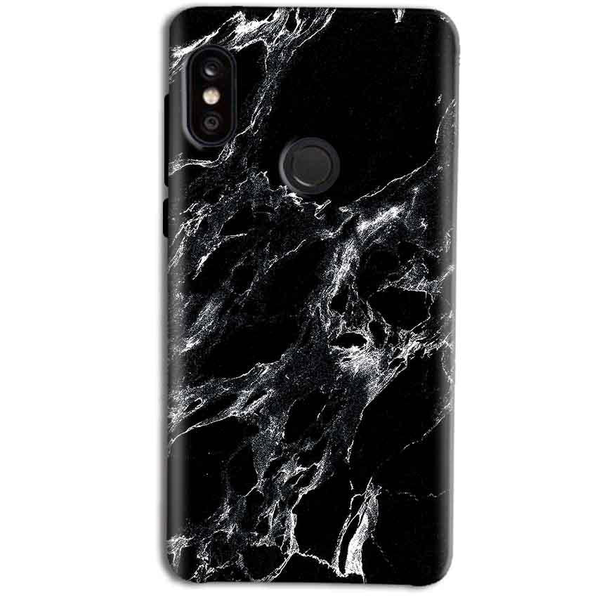 fa6103c5e6f Xiaomi Redmi Note 5 Pro Mobile Covers Cases Pure Black Marble Texture -  Lowest Price -