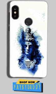 Xiaomi Redmi Note 5 Pro Mobile Covers Cases Shiva Blue White - Lowest Price - Paybydaddy.com
