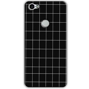 Xiaomi Redmi Y1 Mobile Covers Cases Black with White Checks - Lowest Price - Paybydaddy.com