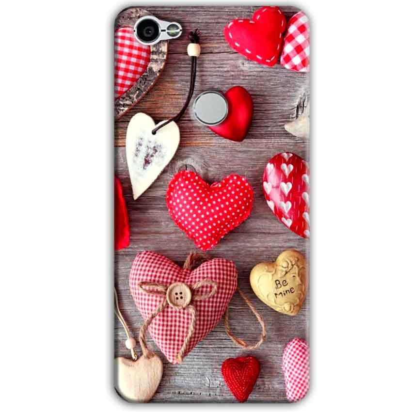 Xiaomi Redmi Y1 Mobile Covers Cases Hearts- Lowest Price - Paybydaddy.com
