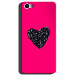 Xiaomi Redmi Y1 Lite Mobile Covers Cases Pink Glitter Heart - Lowest Price - Paybydaddy.com