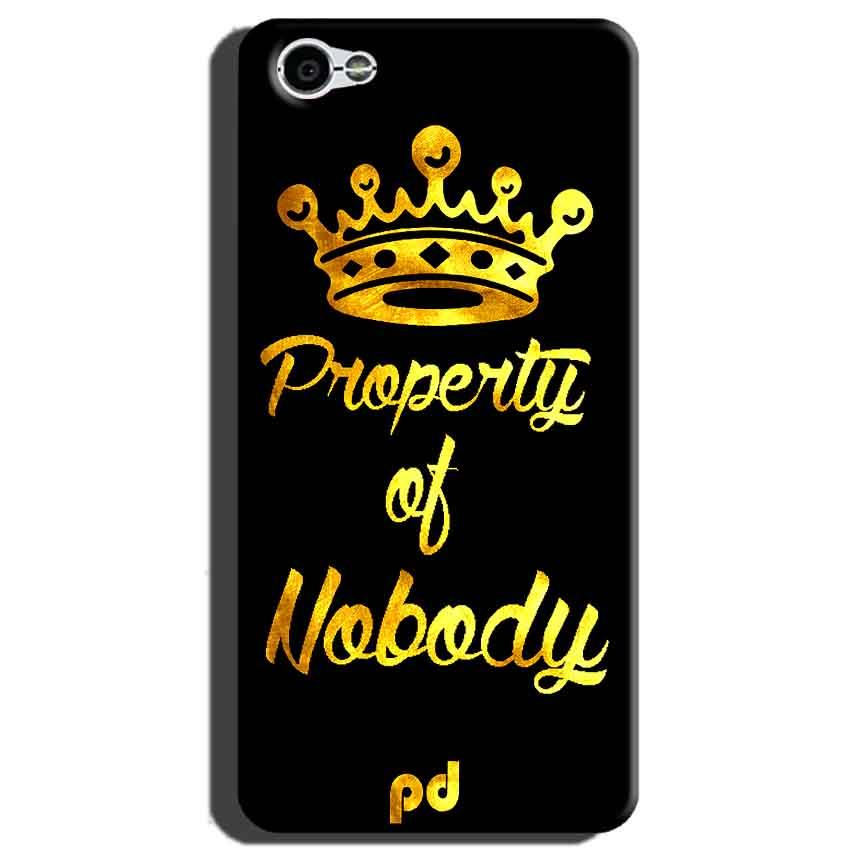 Xiaomi Redmi Y1 Lite Mobile Covers Cases Property of nobody with Crown - Lowest Price - Paybydaddy.com