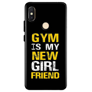 Xiaomi Redmi Y2 Mobile Covers Cases Gym is my new girlfriend- Lowest Price - Paybydaddy.com