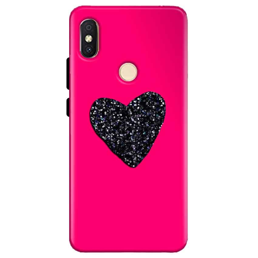 premium selection f4410 f312e Xiaomi Redmi Y2 Pink Glitter Heart Back Cover