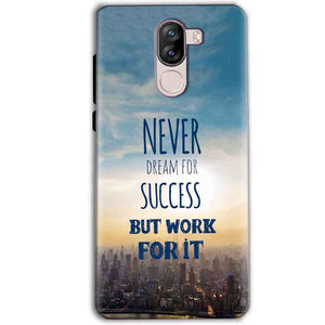 iVoomi i1s Mobile Covers Cases Never Dreams For Success But Work For It Quote - Lowest Price - Paybydaddy.com