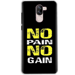 iVoomi i1s Mobile Covers Cases No Pain No Gain Yellow Black - Lowest Price - Paybydaddy.com