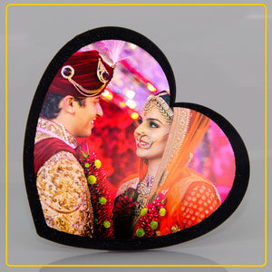 Customised Heart Shape Wooden/Acrylic Photo Frames
