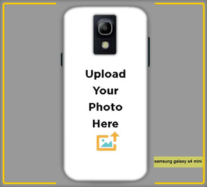 CustomizedIntex Samsung Galaxy S4 Mini 4s Mobile Phone Covers & Back Covers with your Text & Photo