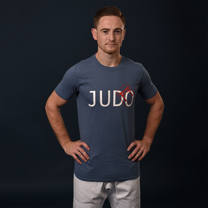Simply Judo Adult's T-Shirt With Fighting Films Stamp
