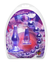 Amethyst Adventure 3 Piece Anal Toy Kit