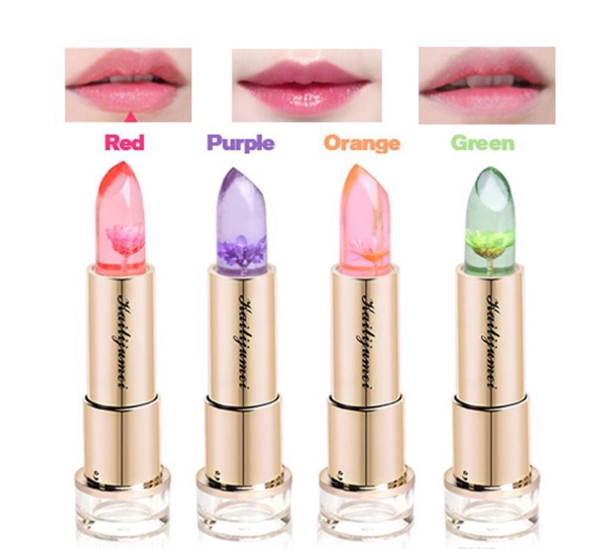 Buy 1 Get Free Kailijumei Floral Jelly Moisturizer Lipsticks Lips Care