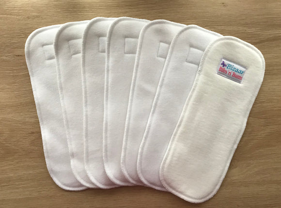 1x Bamboo Cloth Nappy HEAVY WETTER Booster /Insert
