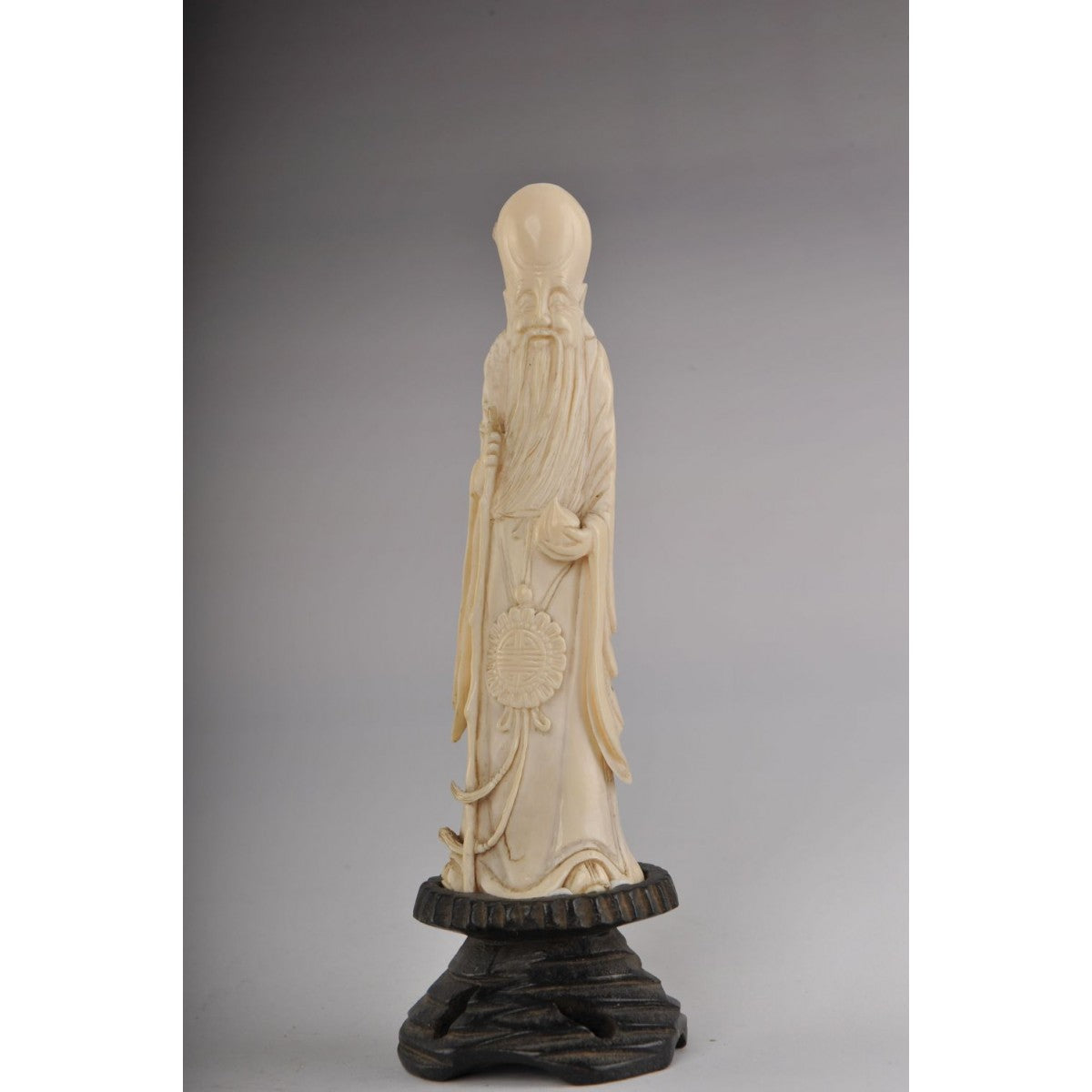 Mammoth Ivory - Longevity God - (Fukurokuju, Shou)