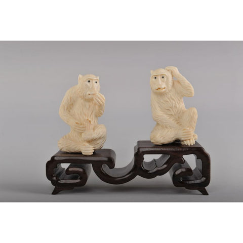 Mammoth Ivory- Four Wise Monkeys