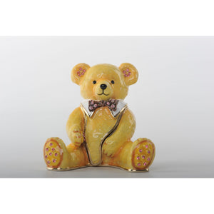 Valentine's Day Teddy Bear Trinket Box Faberge Style by Keren Kopal