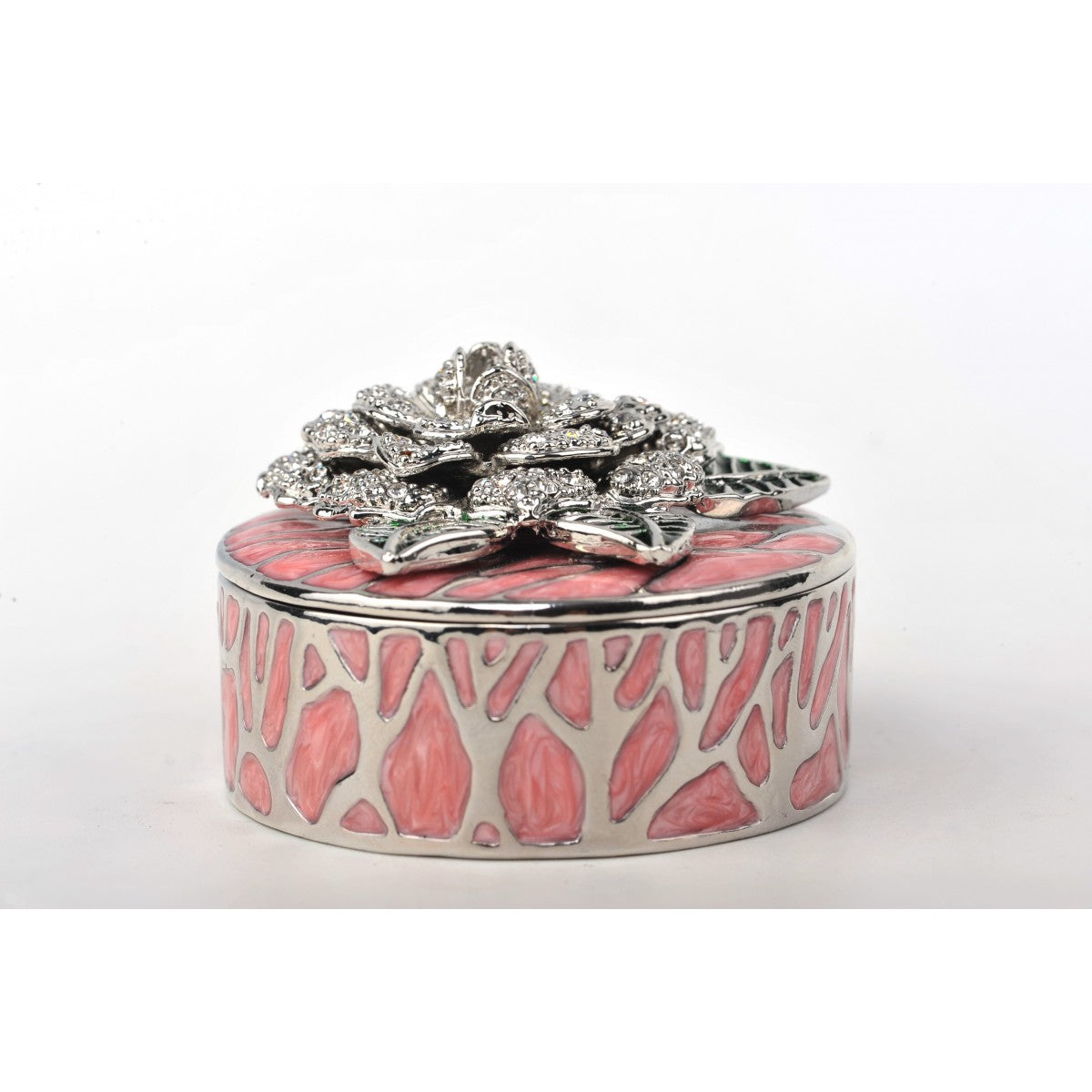 Valentine's Day Pink Trinket Box Decorated Swarovski by Keren Kopal