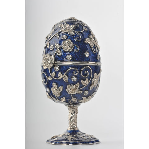 Faberge egg with blue frog by Keren Kopal