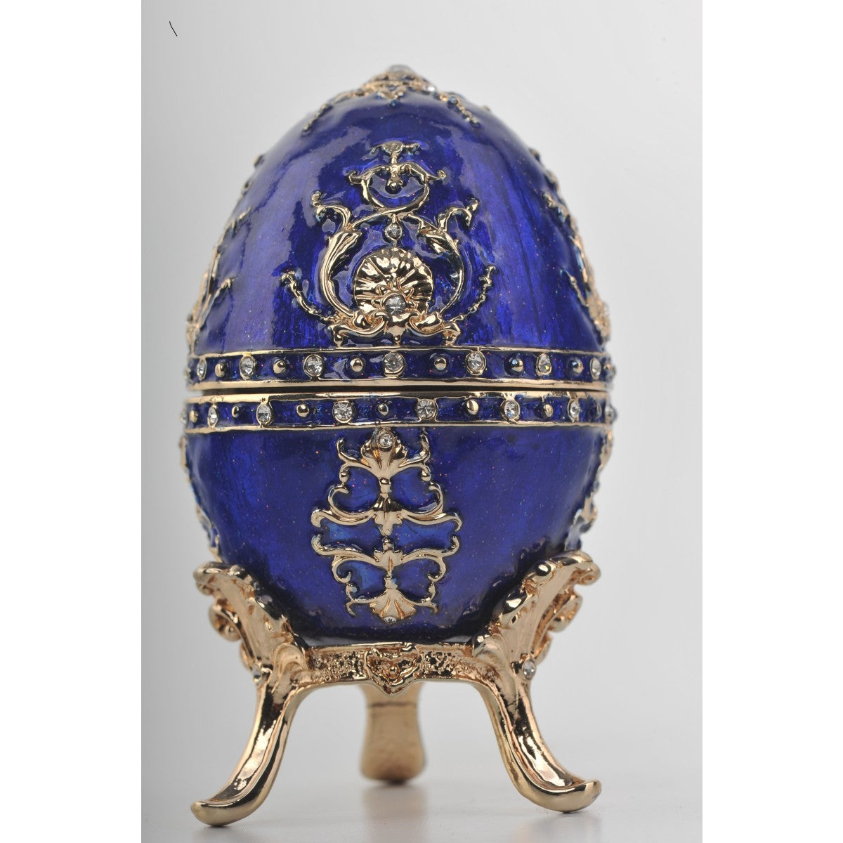 Blue and gold Faberge egg by Keren Kopal