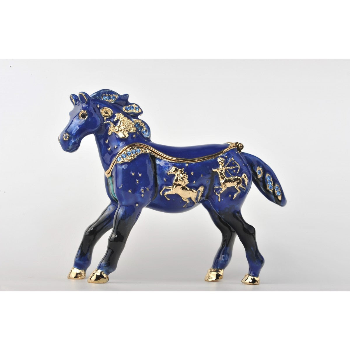 Blue Horse trinket box by Keren Kopal