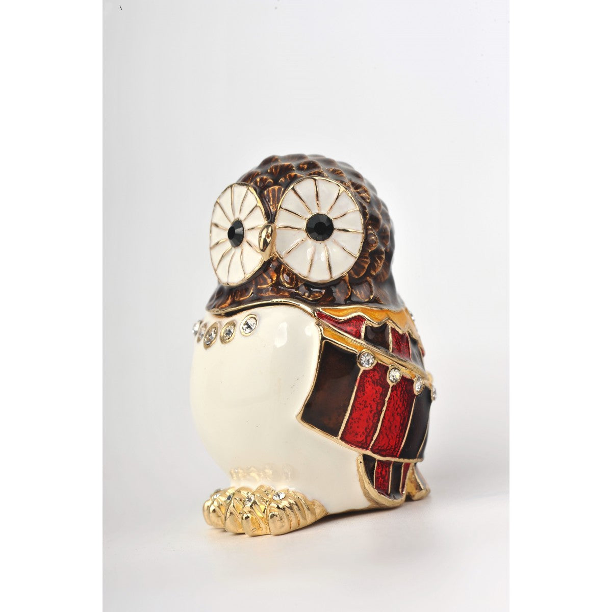 Valentine's Owl Trinket Box Decorated Swarovski Keren Kopal