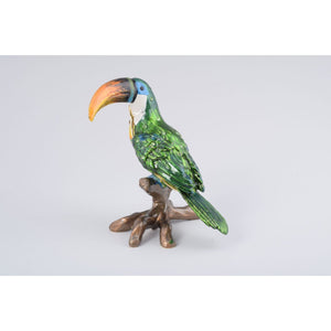 Green Parrot Trinket Box by Keren Kopal