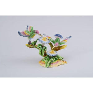 Hummingbirds Trinket Box by Keren Kopal