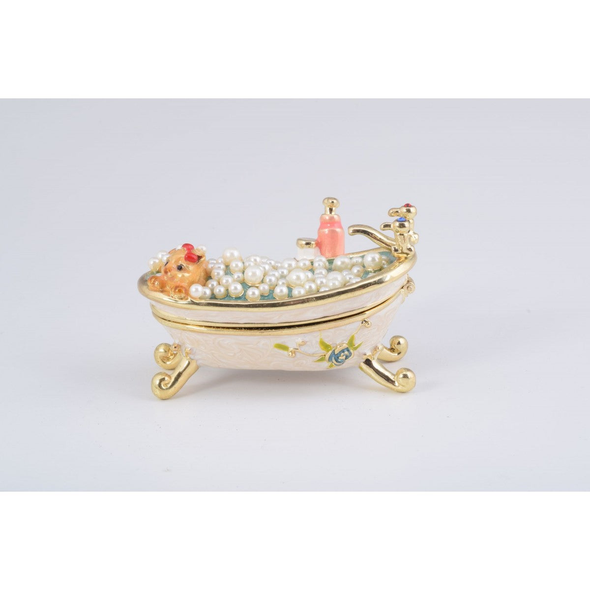 Lady Cat Bath Trinket Box by Keren Kopal