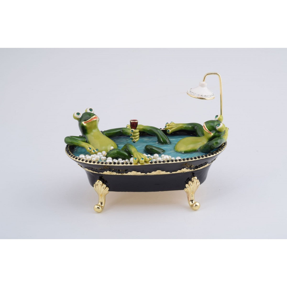 Frogs Bath Trinket Box by Keren Kopal