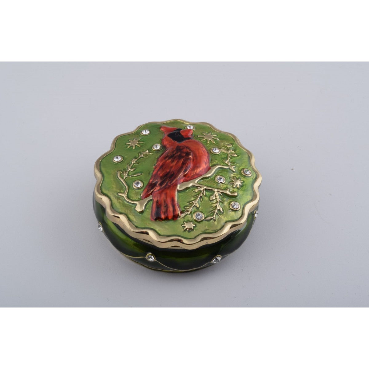 Redbird (Northern Cardinal) Trinket Box by Keren Kopal
