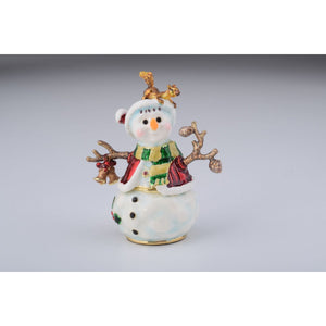 Christmas Snowman Trinket Box by Keren Kopal