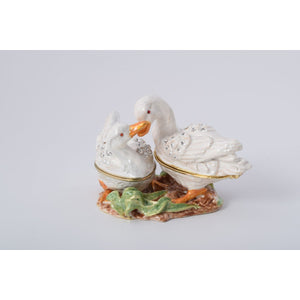 Two Swans Trinket Box by Keren Kopal