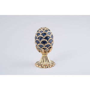 Golden Faberge Style Egg Trinket Box by Keren Kopal
