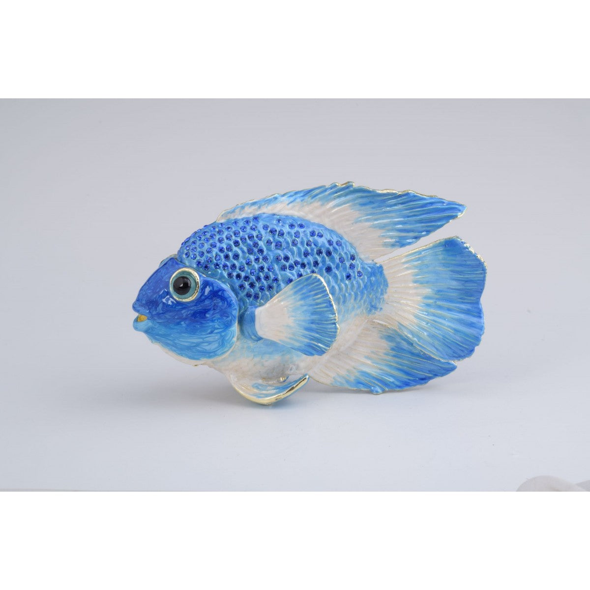 Blue Fish Trinket Box by Keren Kopal