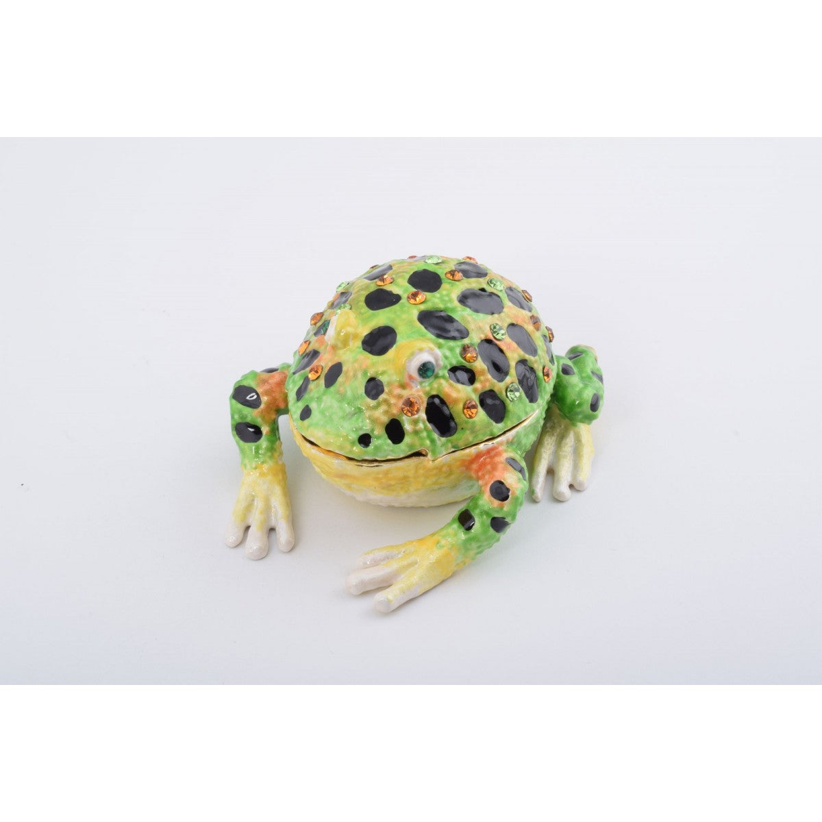 Black Spotted Frog Trinket Box by Keren Kopal
