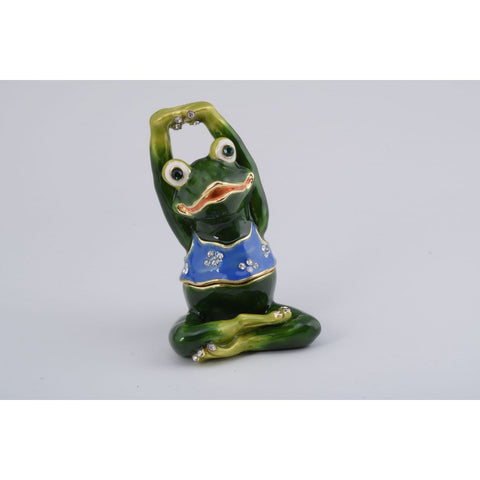 Gymnastic Frog Trinket Box by Keren Kopal