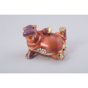 Happy Hippo Trinket Box by Keren Kopal