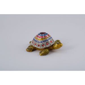 Colorful Turtle Trinket Box by Keren Kopal