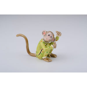Chinese Zodiac Monkey Trinket Box by Keren Kopal