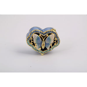 Butterfly Heart Trinket Box by Keren Kopal