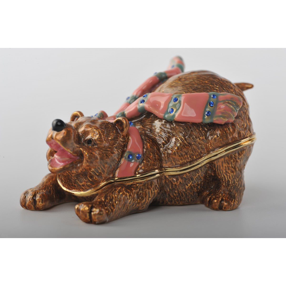Faberge Style Love Bear Trinket Box by Keren Kopal
