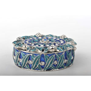 Green&blue trinket box by Keren Kopal