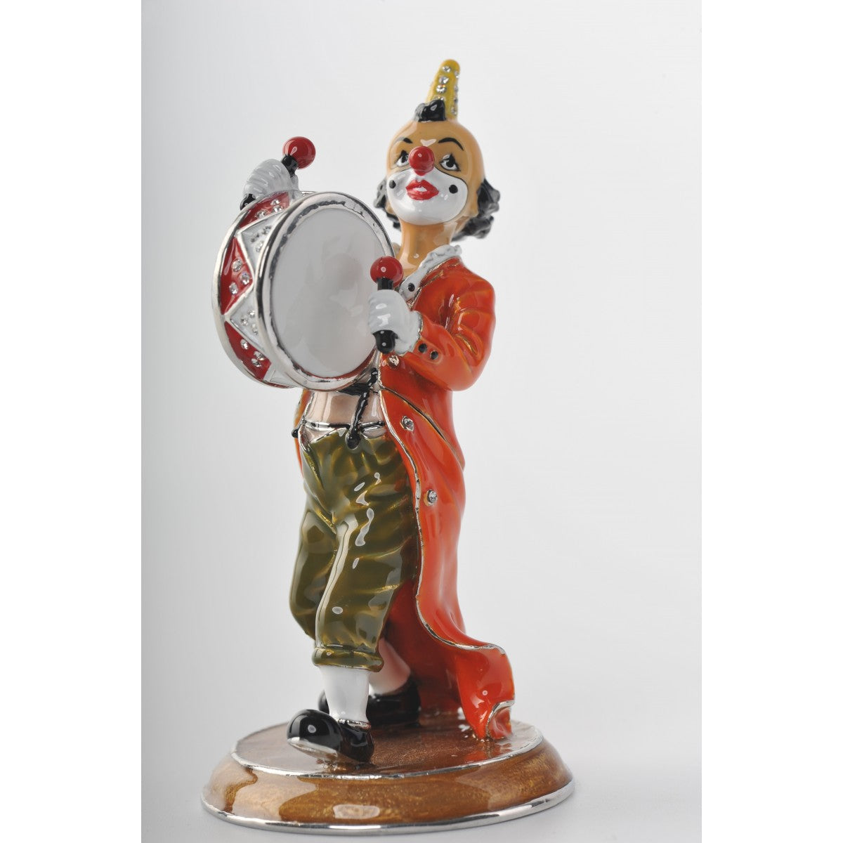 Circus Clown with drums by Keren Kopal