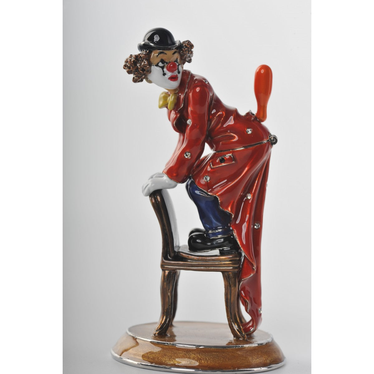 Circus Clown on chair by Keren Kopal