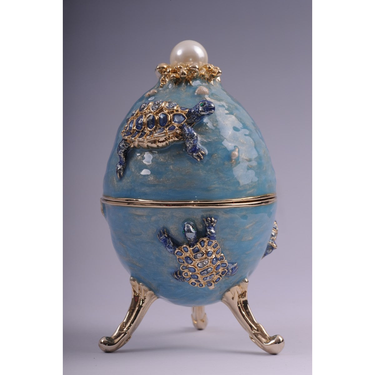 Faberge egg with turtles by Keren Kopal