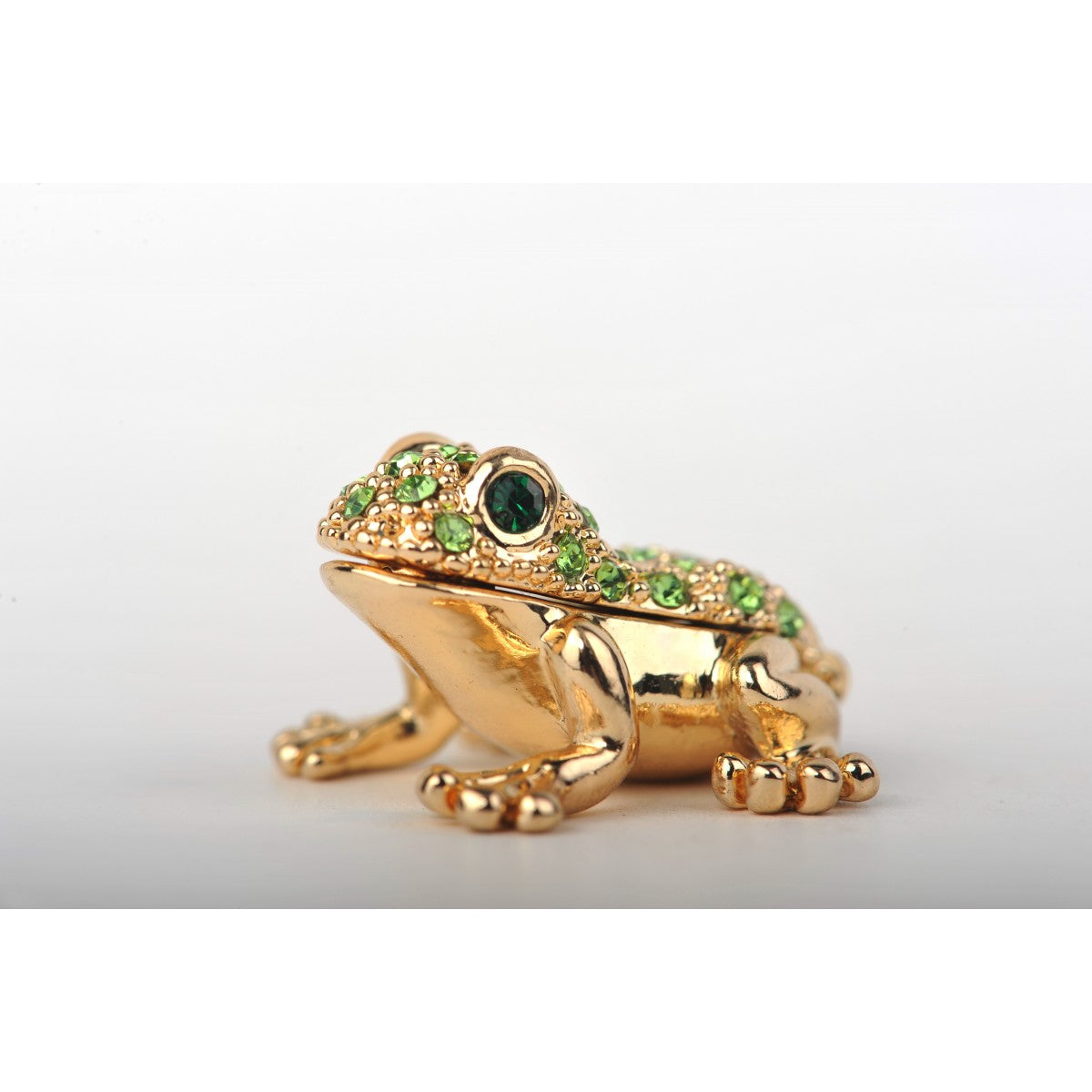 Gold and green frog by Keren Kopal