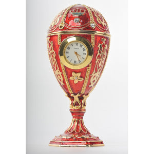 Faberge red egg with clock by Keren Kopal