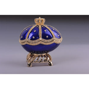 Faberge egg with a sailing ship by Keren Kopal