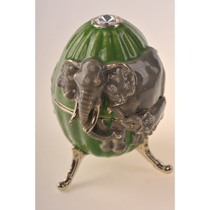 Faberge egg with turtles & pedant turtle inside